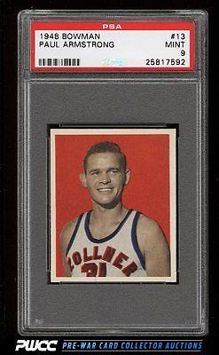 1948 Bowman Basketball Paul Armstrong 13 PSA 9 MINT PWCC