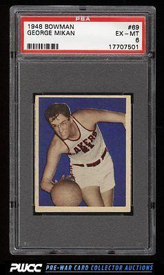 1948 Bowman Basketball George Mikan ROOKIE RC 69 PSA 6 EXMT PWCC