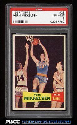 1957 Topps Basketball Vern Mikkelsen SP ROOKIE RC 28 PSA 8 NMMT PWCC