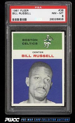 1961 Fleer Basketball Bill Russell 38 PSA 8 NMMT PWCC