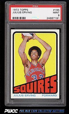 1972 Topps Basketball Julius Erving ROOKIE RC 195 PSA 9 MINT PWCC