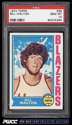 1974 Topps Basketball Bill Walton ROOKIE RC 39 PSA 10 GEM MINT PWCC