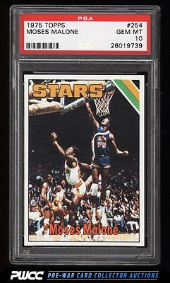1975 Topps Basketball Moses Malone ROOKIE RC 254 PSA 10 GEM MINT PWCC