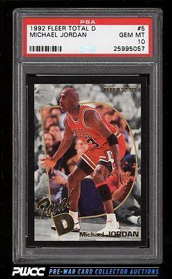 1992 Fleer Total D Michael Jordan 5 PSA 10 GEM MINT PWCC