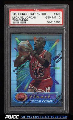 1994 Finest Refractor w Coating Michael Jordan 331 PSA 10 GEM MINT PWCC
