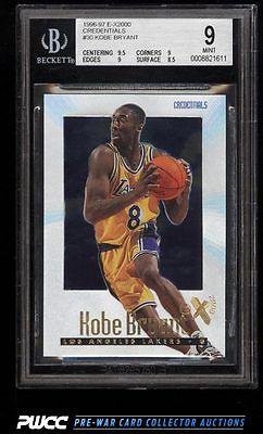1996 Skybox EX2000 Credentials Kobe Bryant ROOKIE RC 499 30 BGS 9 MINT PWCC
