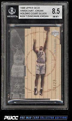 1998 UD Holding Court Silver Tim Duncan Michael Jordan 2123 BGS 85 NMMTPWCC