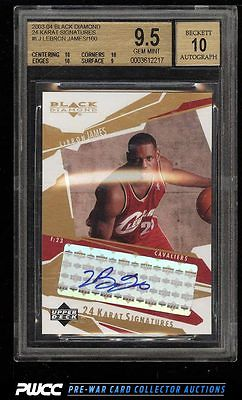 2003 UD Black Diamond 24 KT Signatures LeBron James ROOKIE AUTO BGS 95 PWCC
