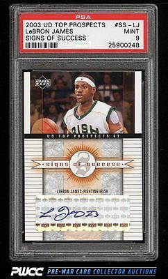 2003 UD Top Prospects Signs Of Success LeBron James ROOKIE RC AUTO PSA 9 PWCC
