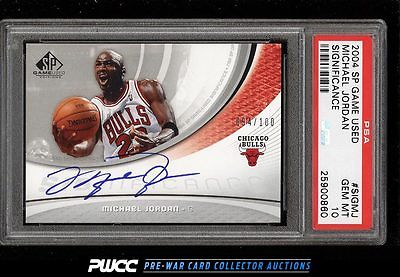 2004 SP Game Used Significance Michael Jordan AUTO 100 PSA 10 GEM MINT PWCC