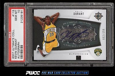 2007 Ultimate Collection Kevin Durant ROOKIE RC AUTO 150 PSA 10 GEM MINT PWCC