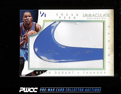 2013 Immaculate Collection Kevin Durant NIKE LOGO SNEAKER PATCH 11 8 PWCC