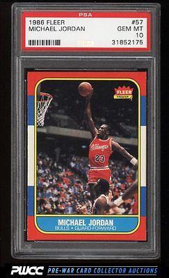 1986 Fleer Basketball SETBREAK Michael Jordan ROOKIE RC 57 PSA 10 GEM MT PWCC