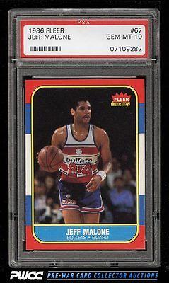 1986 Fleer Basketball SETBREAK Jeff Malone 67 PSA 10 GEM MINT PWCC