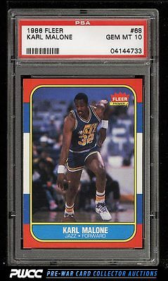 1986 Fleer Basketball SETBREAK Karl Malone ROOKIE RC 68 PSA 10 GEM MINT PWCC