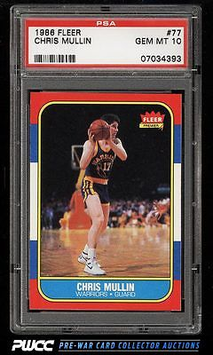 1986 Fleer Basketball SETBREAK Chris Mullin ROOKIE RC 77 PSA 10 GEM MINT PWCC