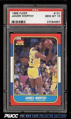 1986 Fleer Basketball SETBREAK James Worthy ROOKIE RC 131 PSA 10 GEM MT PWCC