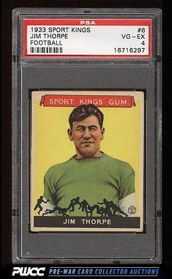 1933 Goudey Sport Kings Jim Thorpe FOOTBALL 6 PSA 4 VGEX PWCC