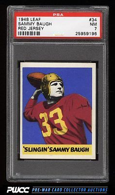 1948 Leaf Football Sammy Baugh ROOKIE RC 34 PSA 7 NRMT PWCC