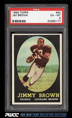 1958 Topps Football Jim Brown ROOKIE RC 62 PSA 6 EXMT PWCC