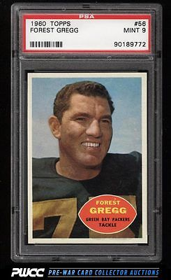 1960 Topps Football Forest Gregg ROOKIE RC 56 PSA 9 MINT PWCC