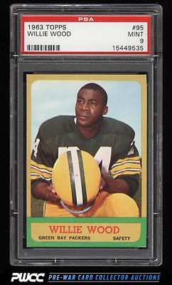 1963 Topps Football Willie Wood ROOKIE RC 95 PSA 9 MINT PWCC