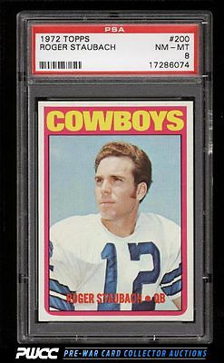 1972 Topps Football Roger Staubach ROOKIE RC 200 PSA 8 NMMT PWCC
