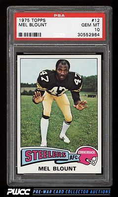 1975 Topps Football Mel Blount ROOKIE RC 12 PSA 10 GEM MINT PWCC