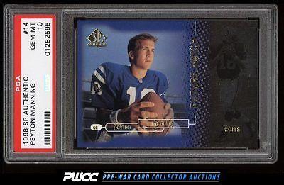 1998 SP Authentic Peyton Manning ROOKIE RC 2000 14 PSA 10 GEM MINT PWCC