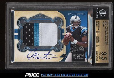 2011 National Treasures Cam Newton ROOKIE AUTO PATCH 99 328 BGS 95 GEM PWCC