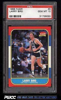 1986 Fleer Basketball SETBREAK Larry Bird 9 PSA 10 GEM MINT PWCC