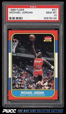 1986 Fleer Basketball SETBREAK Michael Jordan ROOKIE RC 57 PSA 10 GEM MT PWCC