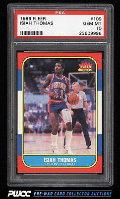 1986 Fleer Basketball SETBREAK Isiah Thomas ROOKIE RC 109 PSA 10 GEM MT PWCC