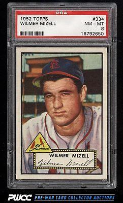 1952 Topps SETBREAK Wilmer Mizell ROOKIE RC 334 PSA 8 NMMT PWCC