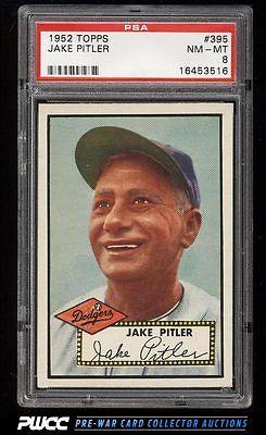 1952 Topps SETBREAK Jake Pitler 395 PSA 8 NMMT PWCC