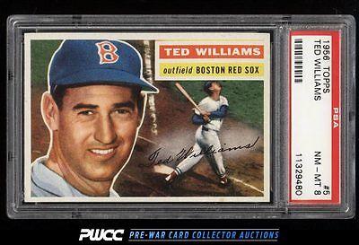 1956 Topps SETBREAK Ted Williams GRAY BACK 5 PSA 8 NMMT PWCC