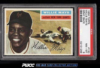 1956 Topps SETBREAK Willie Mays 130 PSA 8 NMMT PWCC