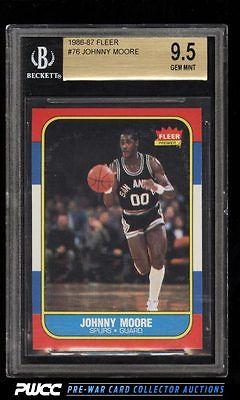 1986 Fleer Basketball SETBREAK Johnny Moore 76 BGS 95 GEM MINT PWCC