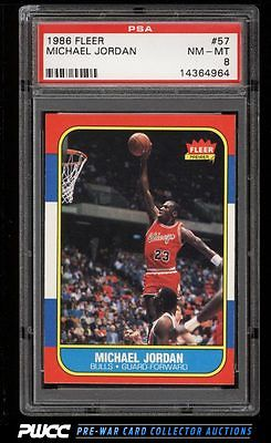 1986 Fleer Basketball Michael Jordan ROOKIE RC 57 PSA 8 NMMT PWCC