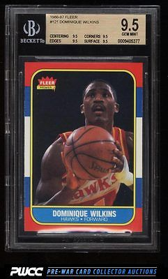 1986 Fleer Basketball Dominique Wilkins ROOKIE RC 121 BGS 95 GEM MINT PWCC