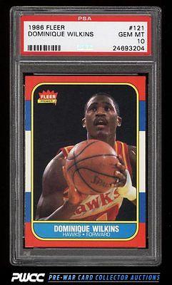 1986 Fleer Basketball Dominique Wilkins ROOKIE RC 121 PSA 10 GEM MINT PWCC