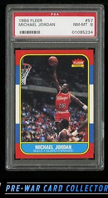 1986 Fleer BBall HiGrade COMPLETE SET Michael Jordan 57 ROOKIE RC PSA 8 PWCC