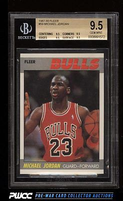 1987 Fleer Basketball Michael Jordan 59 BGS 95 GEM MINT PWCC