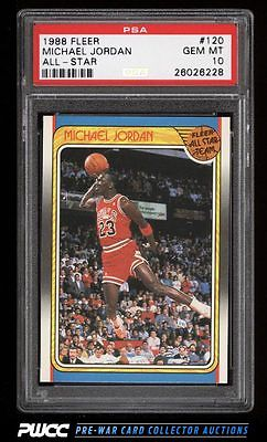 1988 Fleer Basketball Michael Jordan ALLSTAR 120 PSA 10 GEM MINT PWCC