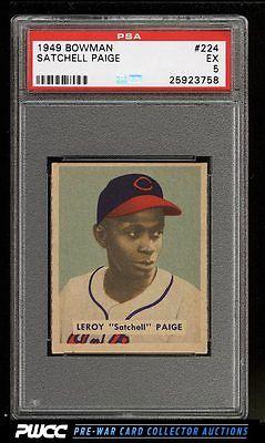 1949 Bowman Satchell Paige 224 PSA 5 EX PWCC