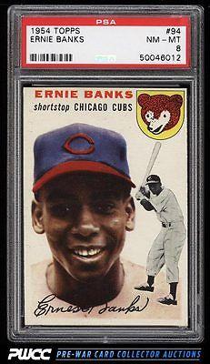 1954 Topps Ernie Banks ROOKIE RC 94 PSA 8 NMMT PWCC