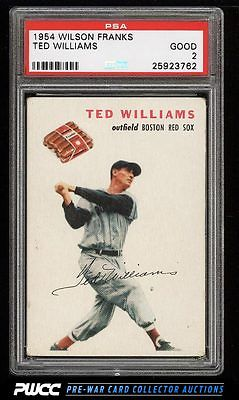 1954 Wilson Franks Ted Williams PSA 2 GD PWCC