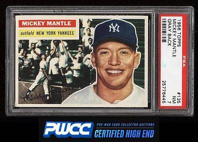 1956 Topps Mickey Mantle 135 PSA 7 NRMT PWCCHE