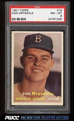 1957 Topps Don Drysdale ROOKIE RC 18 PSA 8 NMMT PWCC