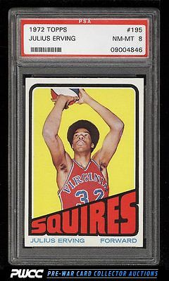 1972 Topps Basketball Julius Erving ROOKIE RC 195 PSA 8 NMMT PWCC